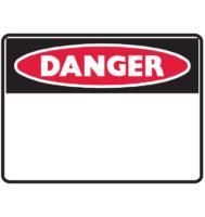 Pre-Printed Pre-cut Blank Sign headers